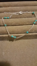Vintage Turquoise Bead Silver Plated Bracelet Combined Shipping - $2.49