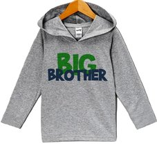 Custom Party Shop Baby Boy's Novelty Big Brother Hoodie Pullover 24 Months Grey - $22.05