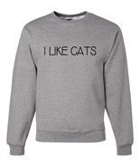 Custom Party Shop Men's I Like Cats Sweatshirt XL Grey - £21.66 GBP