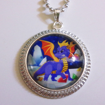 Spyro the Dragon Video Game 1 inch Glass Stone ... - $15.00