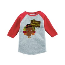 Custom Party Shop Baby's My First Thanksgiving 2T Red Raglan - $20.58