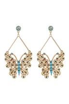 Betsey Johnson Large Butterfly Drop Earrings - $30.00