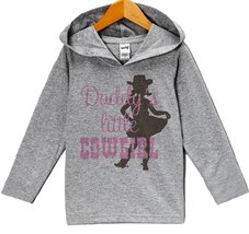 Custom Party Shop Baby Girls' Novelty Cowgirl Hoodie Pullover 24 Months Grey ... - $22.05
