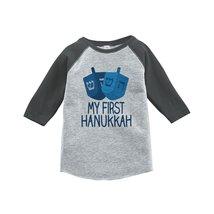 Custom Party Shop Baby's My First Hanukkah Raglan Grey 5/6T - $20.58
