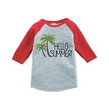 Custom Party Shop Hello Summer Raglan Tee 2T Red - $20.58