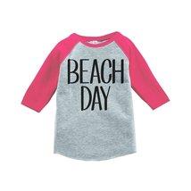 Custom Party Shop Beach Day Summer Raglan Tee 5T Pink - $20.58