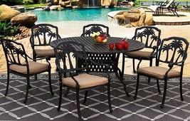 "PATIO DINING SET 60"" ROUND TABLE SERIES 3000 - ANTIQUE BRONZE image 5"