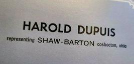 Harold Dupuis Representing Shaw-Barton by Barton Double Deck Playing Cards image 4