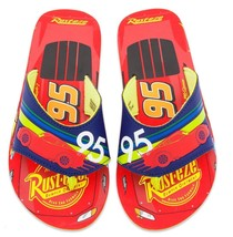 DISNEY CARS LIGHTNING McQUEEN Flip Flops w/ Optional Sunglasses Beach Sa... - $9.89+
