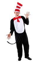 Cat in the Hat Costume Adult S/M Dr Seuss Full Set Halloween Read Across... - $41.14