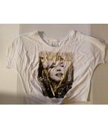 Hollywood Legand Women Jouniors T Shirt Size L 11-13 Marilyn  NWT Black - $11.99