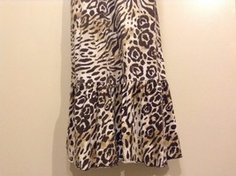 Great Condition Justice Animal Print Size 16 100% Cotton Gold Ting Sequin Dress image 2