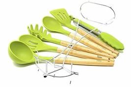 Betasteful Cooking Utensils Kitchen Utensil set   6 Wooden Silicone Kitc... - €26,71 EUR