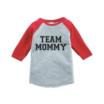 Custom Party Shop Boy's Team Mommy Vintage Baseball Tee 2T Red and Grey - $20.58