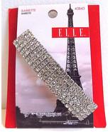 Elle 43843 Silver Clear Rhinestone Barrette - $12.99