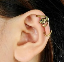 Rock Punk Vintage Bronze Gecko Ear Cuff - $4.99