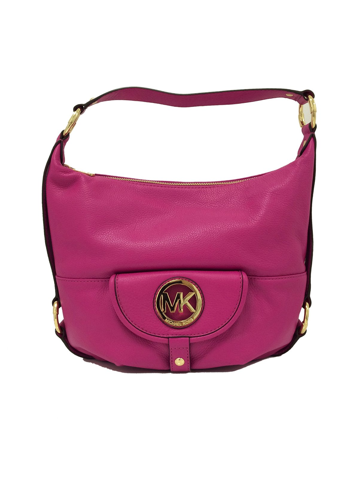 fbe5945ce4846a 81sbj6ohkzl. 81sbj6ohkzl. Previous. Michael Kors Fulton Large Fuschia Pink  Leather Shoulder Bag · Michael ...