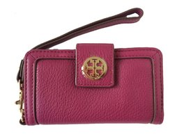 Tory Burch Amanda Smart Phone Wallet in Fuchsia Leather (FOR iPhone 4) - $59.95