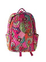 Vera Bradley Laptop Backpack (Updated Version) with Solid Color Interior... - $89.95