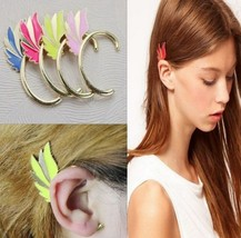 Fluorescent Wing Shaped Hanging Earring(Color:Blue /Pink /Yellow ) - $4.99
