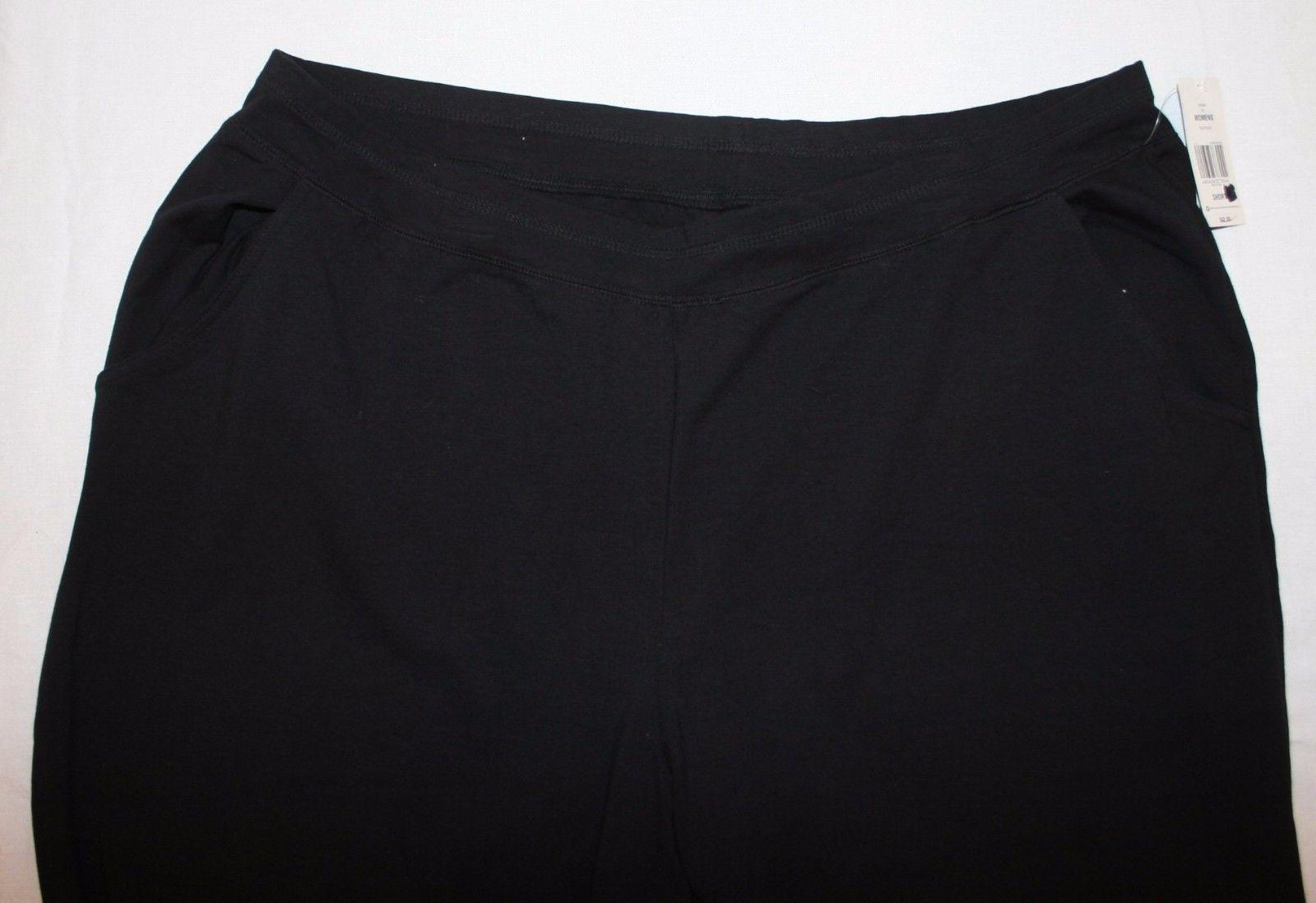 Kim Rogers True Black Pants 3X Short NWT Womens New Casual