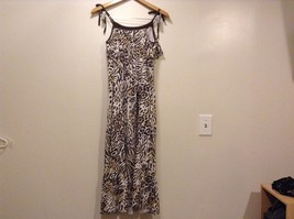 Great Condition Justice Animal Print Size 16 100% Cotton Gold Ting Sequin Dress image 4