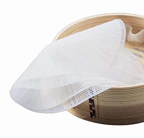 Silicone Bamboo Steamer Liner,8 inch Reusable Non-stick