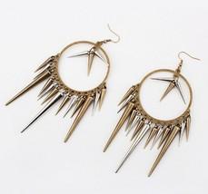 Punk Style Rivets Chandelier Earrings - $4.99