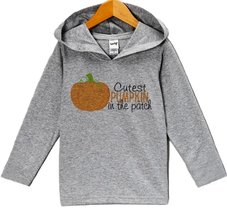 Custom Party Shop Baby Cutest Pumpkin In The Patch Halloween Hoodie 12 Months... - $22.05