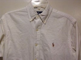 Great Condition Ralph Lauren 100% Cotton White Collared Button Up image 5