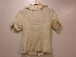 Great Condition BCBG Max Azria Medium Beige Rayon Blend Shirt Ruffled image 4