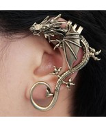 Rock Punk Dragon King Alloy Ear Cuff(Color:Antique Bronze /Antique Silver ) - $4.99