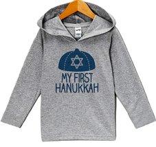 Custom Party Shop Baby's My First Hanukkah Hoodie Grey 5T - $22.05