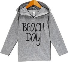 Custom Party Shop Unisex Baby Beach Day Summer Hoodie Pullover 18 Months Grey... - $22.05