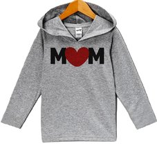 Custom Party Shop Baby Boy's Mother's Day Hoodie Pullover 3T Grey and Black - $22.05