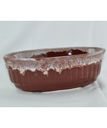 California Pottery Maurice Ceramics 1935 Brown Oval ribbed footed - $9.90