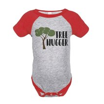 Custom Party Shop Unisex Tree Hugger Outdoors Raglan Onepiece 6 Months Red - ₹1,439.48 INR