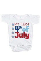 Custom Party Shop Baby's First 4th of July Onepiece 12-18 Months - $17.64