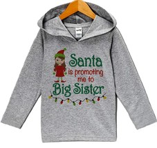 Custom Party Shop Baby's Big Sister Christmas Hoodie 24 Months Months - $22.05