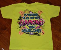 Girl's Girlie Girl Play On The Diamond Short Sleeve Yellow T-Shirt Size ... - $9.99