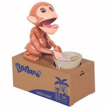 Coin Bank Saving Box Monkey Steal Coins Money C... - $22.81
