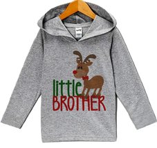 Custom Party Shop Baby's Little Brother Christmas Hoodie 2T - $22.05