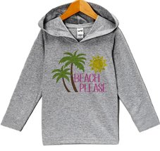 Custom Party Shop Baby Girl's Beach Please Summer Hoodie Pullover 24 Months G... - $22.05