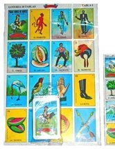 MEXICAN JUMBO LOTERIA SET 10 Very Large Boards, Deck of Cards FUN & EDUC... - $6.93