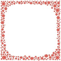 Red Snowflake Stationery Printer Paper 26 Sheets - $9.89