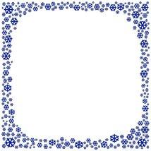 Navy Blue Snowflake Stationery Printer Paper 26 Sheets - $9.89