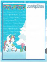 Unicorn's Magical Christmas Stationery Printer Paper 26 Sheets - $9.89