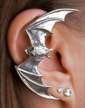 Vintage Rock Punk Flying Bat Alloy Ear Cuff(Color:Silver ) - $4.99