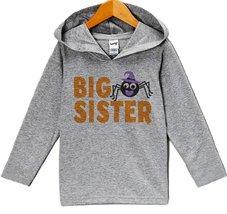 Custom Party Shop Baby Big Sister Halloween Hoodie 24 Months Grey - $22.05