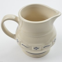 Longaberger Pottery Woven Traditions Classic Blue 8 Oz Creamer Pitcher C... - $18.89